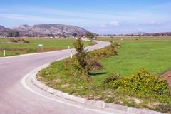 Winding road in the countryside of Bosnia and Herzegovina Stock Photography