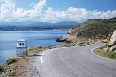 A winding road in Crete Stock Images