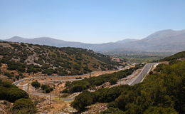 Winding road, Crete Stock Images