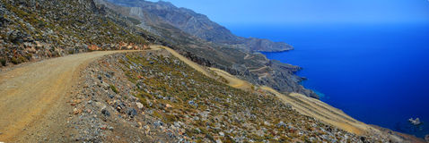 Winding Road at Crete, Greece Royalty Free Stock Images