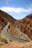 Winding road through Dades gorge. Winding road through impressive Dades gorge, Morocco Royalty Free Stock Photo