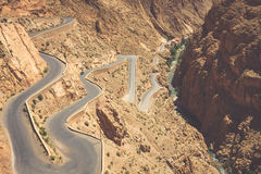 Winding road in Dades Valley, Morocco, Africa Royalty Free Stock Photography