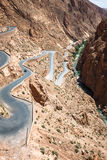 Winding road in Dades Valley, Morocco, Africa Royalty Free Stock Images