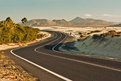Winding Road in Desert Royalty Free Stock Photography