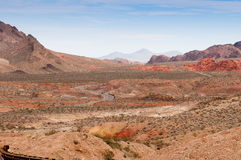 Winding road through the desert Royalty Free Stock Photography