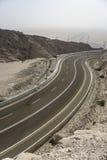 Winding road in desert mountain Royalty Free Stock Image