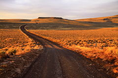 Road Winding through the Hills Royalty Free Stock Photography