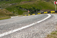 Winding road in Fagaras Mountains Stock Image