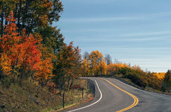 Winding Road with Fall Color Royalty Free Stock Photo