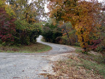 Winding road Fall Stock Images