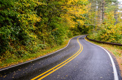 Winding Road in Fall Royalty Free Stock Photos