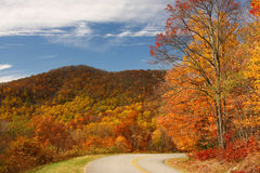 Winding Road through the foothills in Autumn Stock Photography