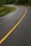 Winding road in forest. Thailand Royalty Free Stock Photos