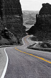 Winding road, Glen Canyon Stock Photo