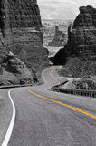 Winding road, Glen Canyon Stock Images