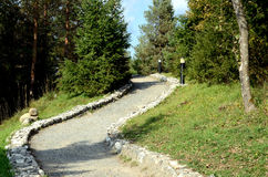 Winding Road. The Winding Road goes uphill stock image