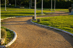 Winding road and grass Stock Image