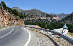 Winding road in Greece Royalty Free Stock Photos
