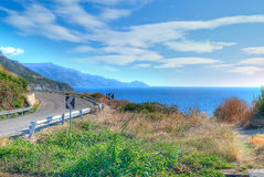 Winding road in hdr Stock Images