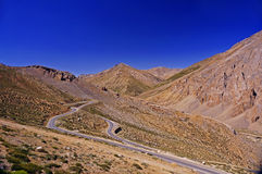 Winding Road in the High-Altitude Mountain Region Royalty Free Stock Photo