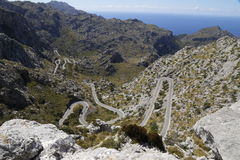 Winding road in the high mountains Royalty Free Stock Photography