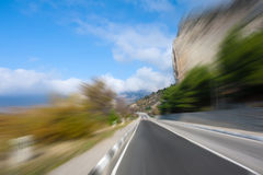 Winding road at high speed Stock Photos