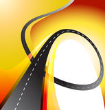 Winding road highway background vector illustration Stock Image