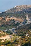 Winding road in the hills Stock Photography