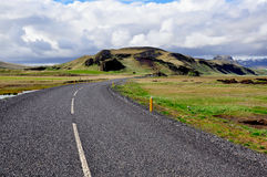 Winding Road in Iceland. On summer Stock Photos