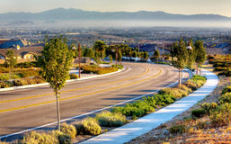 Free Winding Road In The Suburb Stock Image - 17043151