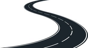 Winding road. Isolated winding road - clip art illustration vector illustration