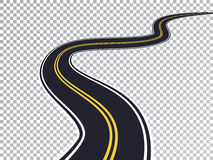 Winding Road Isolated Transparent Special Effect Stock Photography