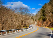 Winding road in Kentucky Royalty Free Stock Photo