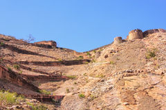 Winding road leading to Nahargarh Fort in Jaipur, Rajasthan, Ind Stock Image