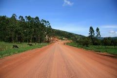 Winding Road Leading Through Uganda Royalty Free Stock Images