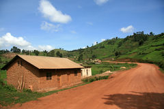 Winding Road Leading Through Uganda Stock Image