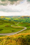 Winding Road from Mam Tor. Peak District, Derbyshire, UK Royalty Free Stock Images