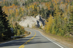 Winding Road Through Mountain Royalty Free Stock Photo