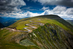 Winding road on mountain Royalty Free Stock Photo