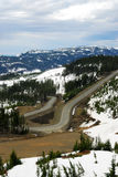 Winding road in mountain washington Stock Photos