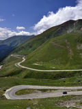 Winding road in the mountains Stock Photo