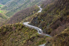 Winding Road Through Mountains Royalty Free Stock Photography