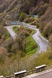 Winding Road Through Mountains Stock Photo