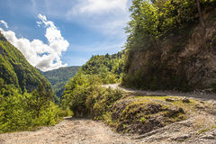 Winding road in the mountains Stock Photography