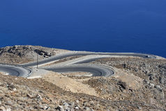 Winding road in mountains - RAW format Stock Photography