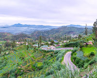 The winding road in mountains Royalty Free Stock Photo
