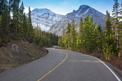 Winding road in the mountains Royalty Free Stock Photo