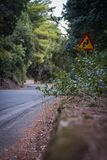 Winding road in the mountains stock image