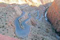 Winding road in the mountains Royalty Free Stock Images