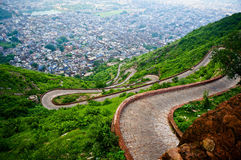 Winding road of Nargarh fort jaipur Royalty Free Stock Image
